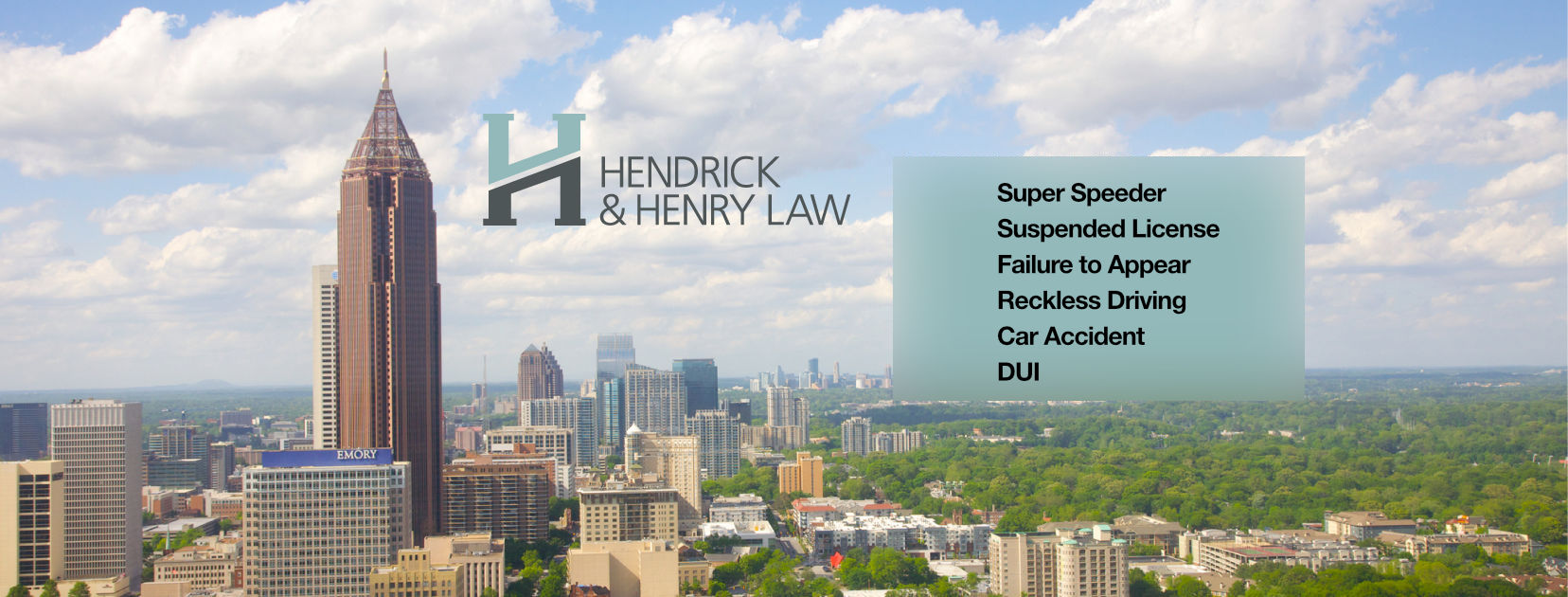 Hendrick & Henry Georgia traffic & speeding ticket lawyers main graphic